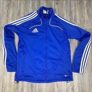 adidas Three Stripe Athletic Zip Front Jacket SZ M